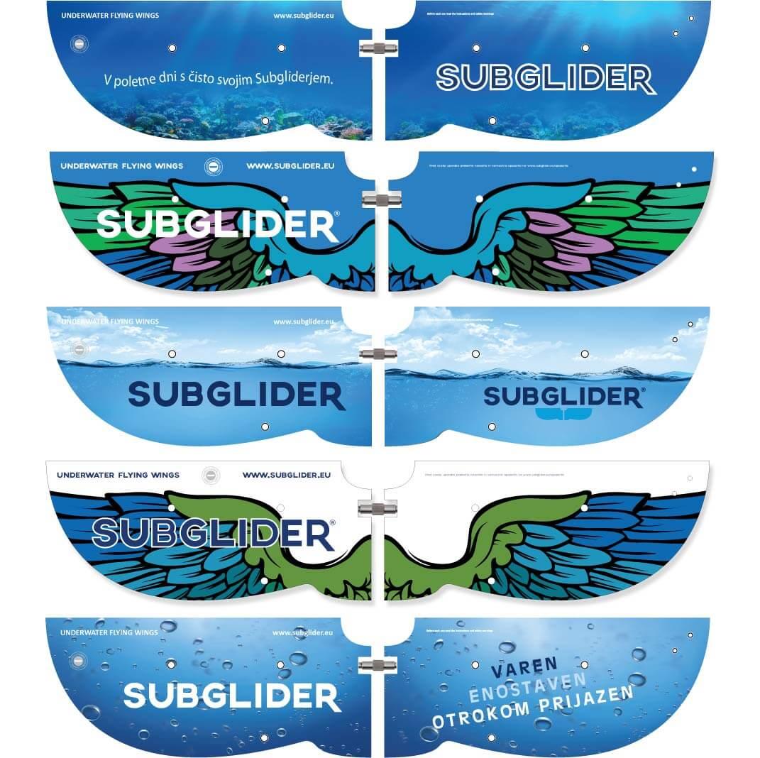 Subglider z vasim logom