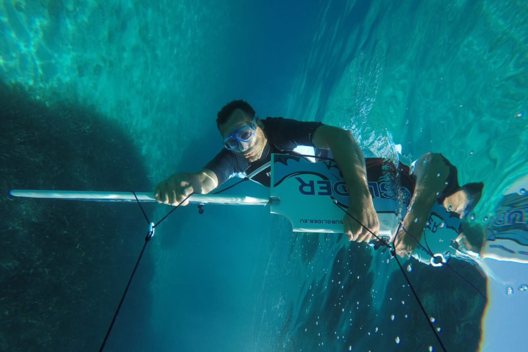 Underwater acrobatics